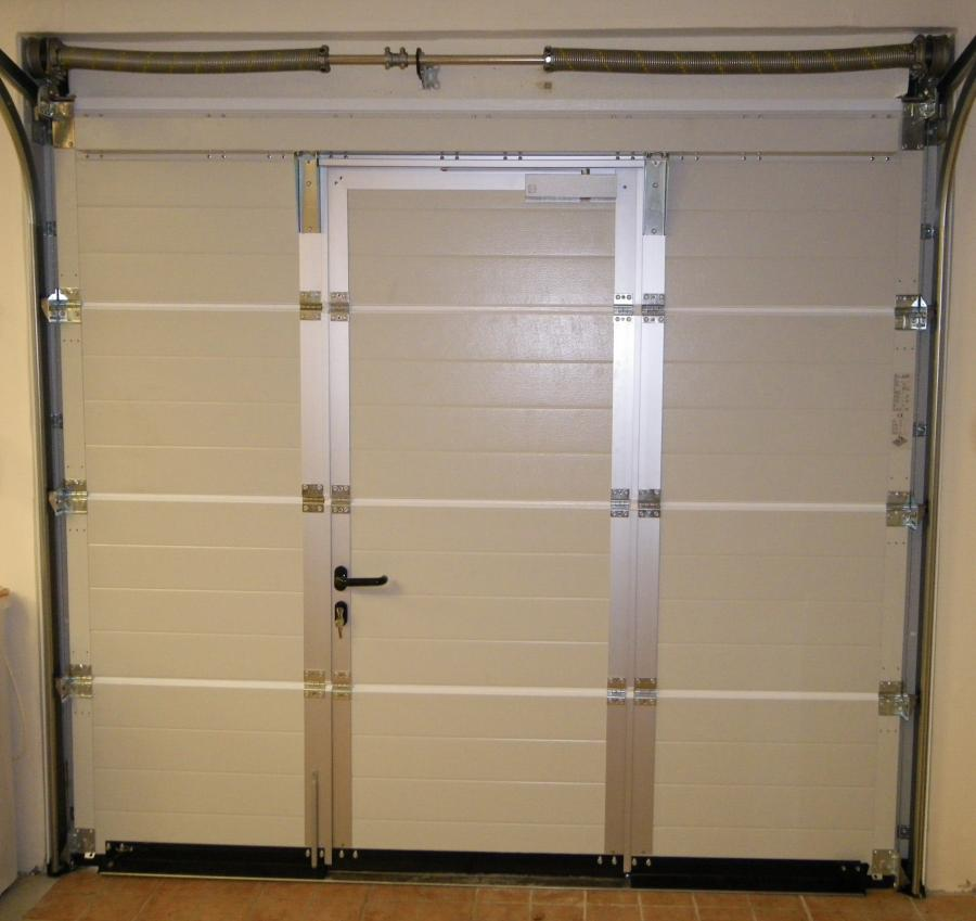 Atoutbaie vannes articles - Porte de garage basculante isolee avec portillon integre ...